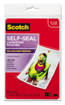 "New Lot of 2 x 5 Scotch 3M Self-Sealing Laminating Pouches 4"" x 6"" PLG00G image 4"