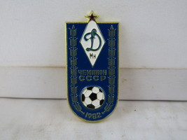 Vintage Soviet Soccer Pin - Dinamo Minsk Top League Champions - Stamped Pin - $19.00