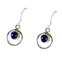 Black Onyx supply Sterling Silver elegant genuine Black Earring gift UK - $2.59
