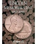 Lincoln Memorial Cents Coin Folder Album #1, 1959-1998 by H.E. Harris - $8.49