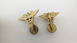 1 Pair Us Army Medical Service Corps Officer Corps Lapel Badge Pin - $9.05