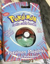 1998 Pokemon Applause Playables #01 Bulbasaur Pokeball Keychain Factory sealed - $38.79