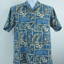 Royal Creations Tiki Ukuleles Hibiscus Floral Hawaiian Aloha Shirt Mens ... - $25.15