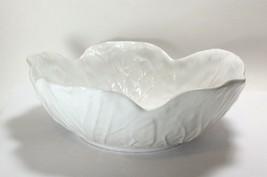 """Bordallo Pinheiro White Cabbage Soup Bowl 7"""" - $19.78"""