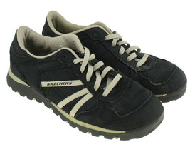 Skechers Grand Jams Womens Black Suede Lace Ups Fashion Sneakers Sz 7.5 ... - $18.80