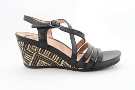 Abeo Loretta Strap Sandals Black Women's Size US 6 Neutral Footbed ( EPB... - £53.23 GBP