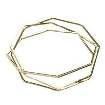 PANDA SUPERSTORE Gold Color Bracelet Simple Multi-Layered Polygon Bracelet Skele