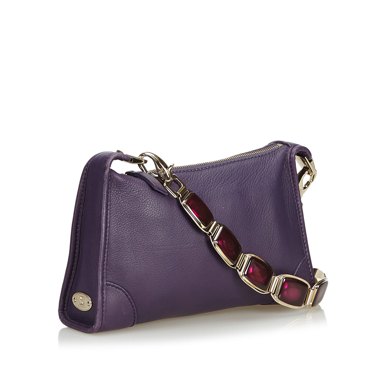 Pre-Loved Celine Purple Others Leather Shoulder Bag France
