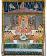 Original hand painted lord krishna pooja painting shrinathji art decor f... - $513.25