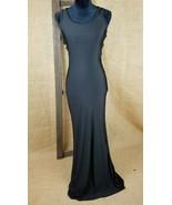 Yiliya women large maxi dress black evening wear club wear open back - $23.71