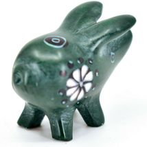 Tabaka Chigware Hand Carved Kisii Soapstone Green Pig Miniature Mini Figurine image 4