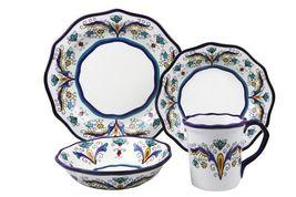 The Samana Collection 16 Piece Stoneware Dinnerware Set LH506 by Lorren ... - $100.93