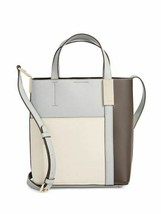 DKNY NWT Blue White Brown Tote Crossbody Hand Bag Pebbled Leather Magnetic - $77.97