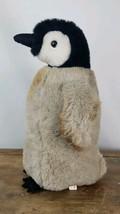 Emperor Penguin Stuffed Animal Toy Plush Furry Fuzzy White Black Grey Or... - $18.99