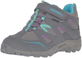 Merrell Hilltop Quick Close Wtrpf Hiking Boot, Grey/Multi, 7 M US Big Kid