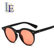 LE women's men Round Sunglasses Clear Ocean Transparent Summer Beach Gla... - $10.93+