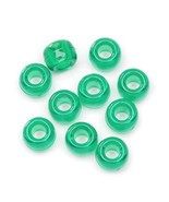 Bulk Buy: 5mm Plastic Transp. Green Pony Beads-250 Pcs (12-packs) #0728-... - $0.99