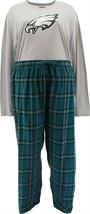 NFL Men's Pajama Set Long Slv Top Flannel Pants Eagles XXXXL NEW A387683 - $30.67