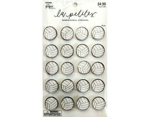 The Paper Studio La Petite Soccer Ball Dimensional Stickers #1959899