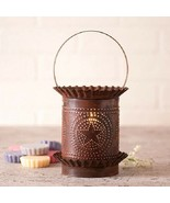 JUMBO PUNCHED TIN WAX WARMER Handmade COUNTRY BARN STAR Tart Burner Acce... - $44.97