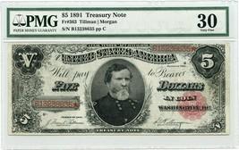 FR. 363 1891 $5 Treasury Note PMG Very Fine 30 - Treasury Notes - $1,076.70