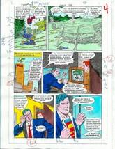 Original 1985 Superman 409 page 4 DC Comics color guide art/colorist's a... - $39.59