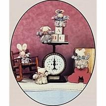 Buggalets Mouse Bunny Pig Cat Bear Doll Pattern Heirloom Beginnings BP-1... - $7.69