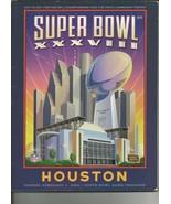 ORIGINAL Vintage 2005 Super Bowl XXXVIII Game Program Patriots Panthers ... - $19.79