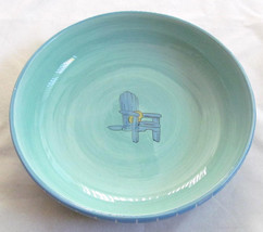 """Brushes K.I.C. Hand Painted, 9"""" Individual Pasta Bowl """"Chair"""" Light& Dar... - $29.99"""