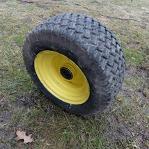 Used John Deere 16x6.50-8 Front Wheel and Tire fits GT235 - $10.00