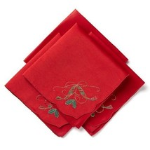 Lenox Holiday Nouveau Cutwork Set of 4 Napkins with Embroidery - $47.51