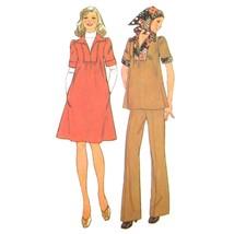 Vtg Simplicity 7153 Maternity Short Sleeve VNeck Dress Top Pants 14 16 3... - $6.95