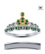 Women's Fashion Jewelry Solid Sterling Silver Disney Princess Tiana Crow... - £40.44 GBP