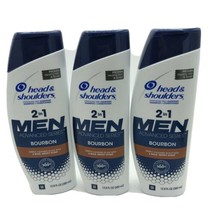 3 Pack Head and Shoulders Men 2 in 1 Dandruff Shampoo Bourbon, 12.8 Oz - $32.66