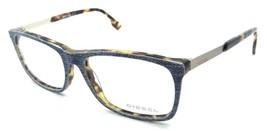Diesel Rx Eyeglasses Frames DL5166 053 53-16-145 Light Blue Denim /Blond... - $52.23