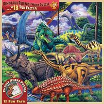 MasterPieces / Fun Facts 48-Piece Wood Puzzle, Dinosaur Friends - $9.99