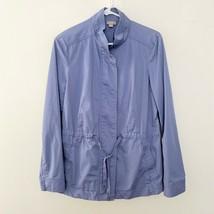 J Jill Jacket S Small Zip Up Long Sleeve Tie Waist Purple Blue - $23.03