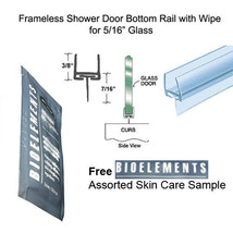 "Shower Door One-Piece Bottom Rail With Wipe for 1/2"" Glass - 32"" in. Bioelements - $14.80"