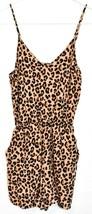 H&M Divided Women's Leopard Animal Print Playsuit Jumpsuit Romper Size 0 image 1