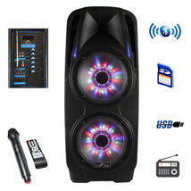 beFree Sound 2x10 Inch Woofer Portable Bluetooth Powered PA Speaker - $219.61 CAD