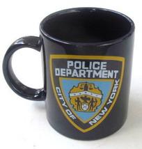 "NYPD Police Department ""City of New York"" Black Ceramic Paraglazed Mug 11oz - $13.99"
