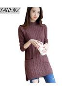 Women Clothing Knitting Sweater 2017 Autumn Hem Split Knitting Pullover ... - €51,36 EUR