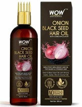 WOW Skin Science Onion Black Seed Hair Oil - WITH COMB APPLICATOR 100 ML - $18.00
