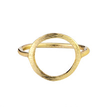 Classic Sparkling Hollow Out Hoop Ring Women Mens Jewelry Minimalism Kar... - $7.99