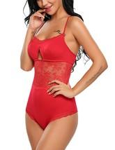 Sexy Lingerie For Women Lace Teddy Romper One Piece Sleepwear Bodysuit - $39.95