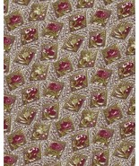 Per Half Yd Quilt Fabric, Sweet Roses and Posies in Odd Squares,on Toile... - $3.48
