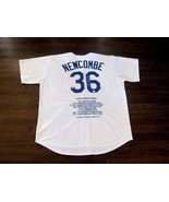 DON NEWCOMBE 1955 WSC DODGERS SIGNED AUTO MAJESTIC STAT L/E JERSEY GTSM ... - $247.49