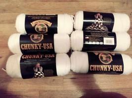 lion brand yarn snow cap white 6 x 4oz skins - $38.10 CAD
