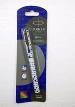 Parker Beta Special Edition BallPoint Pen Ballpen Regimental 03 Blue Body -New - $6.99