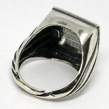 Ring Herren 925 Silber Glanz, Brüniert, Onyx Eckige Cabochons, Verstellbar image 4